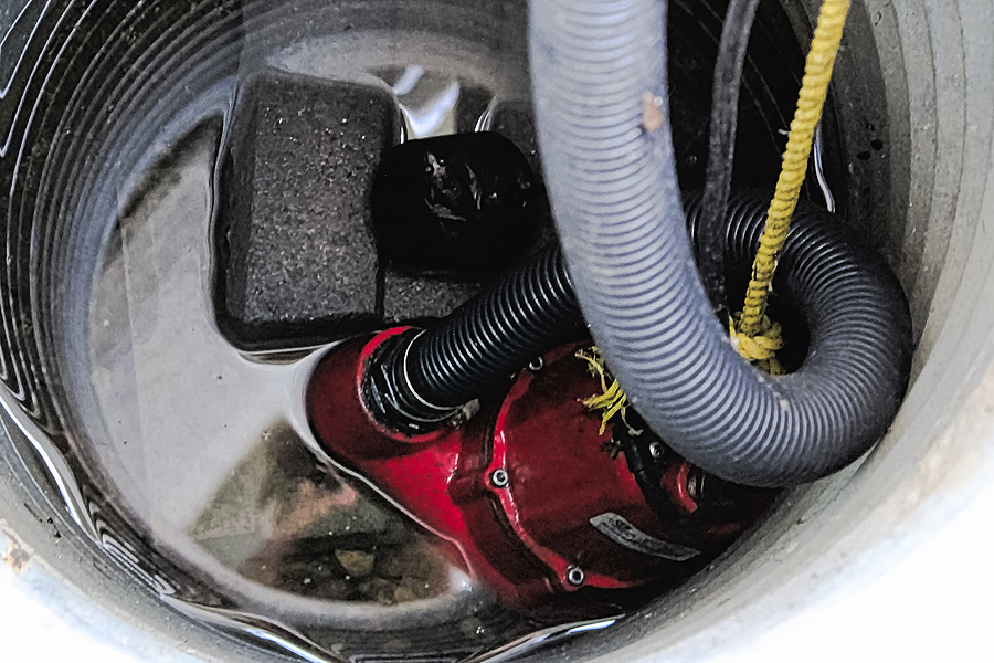 fixing the sump pumps of the house